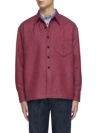 Main View - Click To Enlarge - KARMUEL YOUNG - Square fit virgin wool overshirt