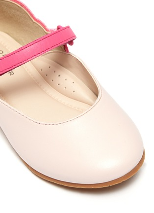 Detail View - Click To Enlarge - SOPHIA WEBSTER - 'Chiara' embroidered butterfly wing velcro strap toddler ballerina flats