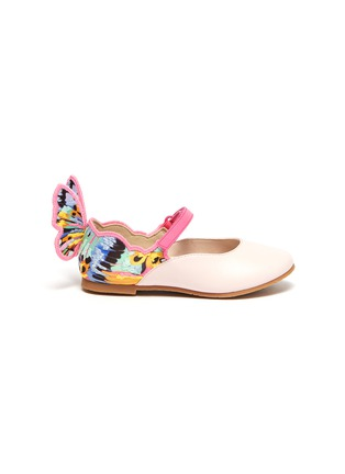Main View - Click To Enlarge - SOPHIA WEBSTER - 'Chiara' embroidered butterfly wing velcro strap toddler ballerina flats