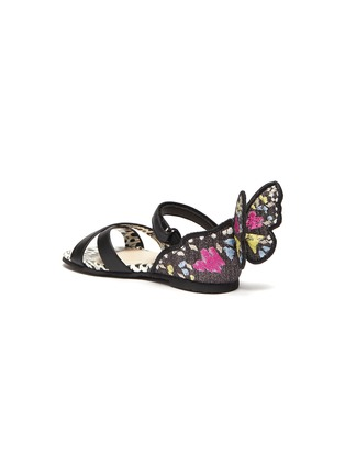 Detail View - Click To Enlarge - SOPHIA WEBSTER - 'Chiara' embroidered velcro strap toddler ballerina flats
