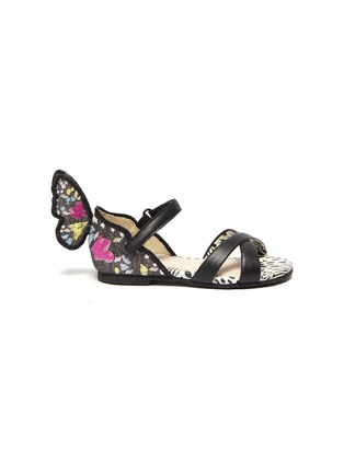 Main View - Click To Enlarge - SOPHIA WEBSTER - 'Chiara' embroidered velcro strap toddler ballerina flats