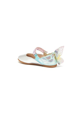 Detail View - Click To Enlarge - SOPHIA WEBSTER - 'Chiara' butterfly wing velcro strap toddler ballerina flats