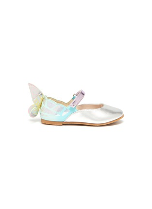 Main View - Click To Enlarge - SOPHIA WEBSTER - 'Chiara' butterfly wing velcro strap toddler ballerina flats
