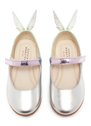 Figure View - Click To Enlarge - SOPHIA WEBSTER - 'Chiara' butterfly wing velcro strap toddler ballerina flats