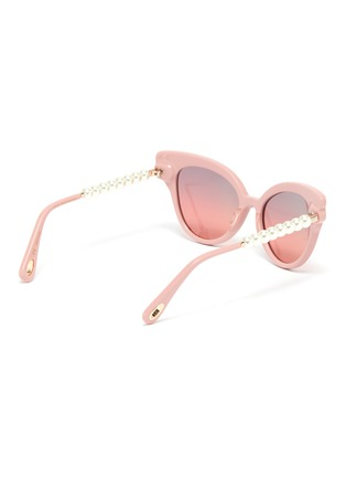 Figure View - Click To Enlarge - LELE SADOUGHI - Chelsea' pearl temple cat eye sunglasses