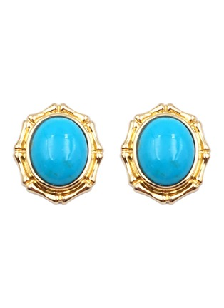 Main View - Click To Enlarge - LC COLLECTION JEWELLERY - Turquoise 18k gold stud earrings