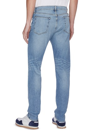 Back View - Click To Enlarge - RAG & BONE - 'Fit 1' faded straight fit jeans