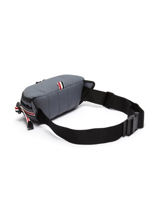 Detail View - Click To Enlarge - THOM BROWNE - Bar stripe detail ripstop waistbag