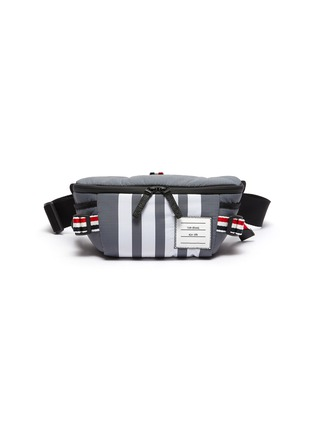 Main View - Click To Enlarge - THOM BROWNE - Bar stripe detail ripstop waistbag