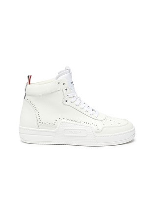 Main View - Click To Enlarge - THOM BROWNE - High top leather basketball sneakers