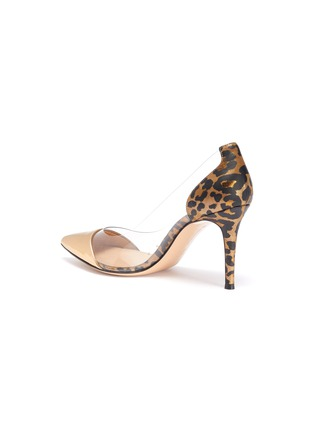 - GIANVITO ROSSI - Plexi' PVC leopard print metallic leather pumps
