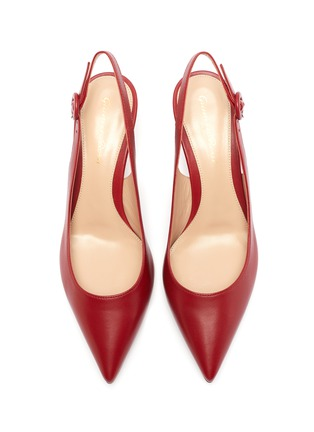 Detail View - Click To Enlarge - GIANVITO ROSSI - Anna' point toe calfskin leather slingback pumps