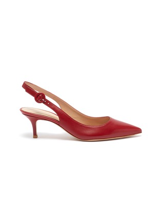 Main View - Click To Enlarge - GIANVITO ROSSI - Anna' point toe calfskin leather slingback pumps