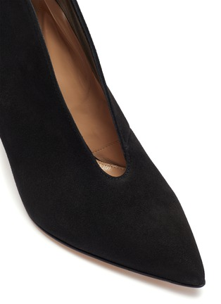 Detail View - Click To Enlarge - GIANVITO ROSSI - Vamp' suede leather heeled ankle boots