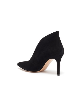 - GIANVITO ROSSI - Vamp' suede leather heeled ankle boots