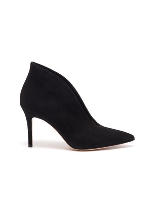 Main View - Click To Enlarge - GIANVITO ROSSI - Vamp' suede leather heeled ankle boots