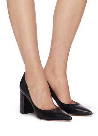 Figure View - Click To Enlarge - GIANVITO ROSSI - Piper' leather pumps