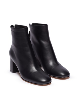 Detail View - Click To Enlarge - GIANVITO ROSSI - Metal zip leather boots