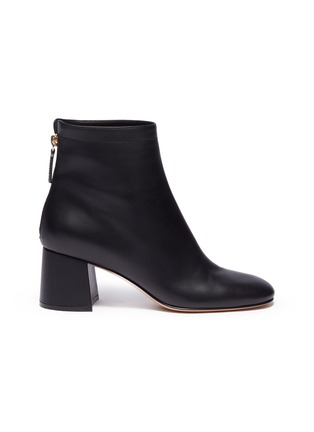 Main View - Click To Enlarge - GIANVITO ROSSI - Metal zip leather boots