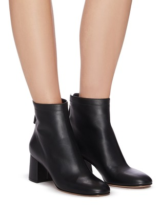 Figure View - Click To Enlarge - GIANVITO ROSSI - Metal zip leather boots