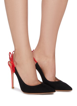 Figure View - Click To Enlarge - GIANVITO ROSSI - Caterina' stiletto heel slingback suede contrast pumps