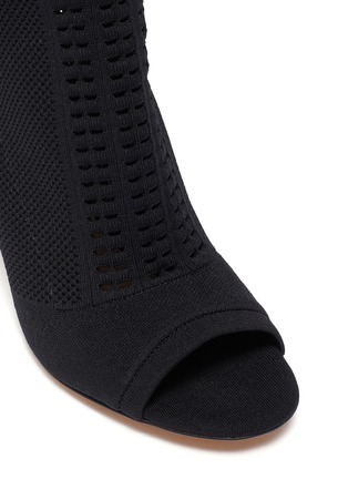 Detail View - Click To Enlarge - GIANVITO ROSSI - Vires' open toe knit ankle boots