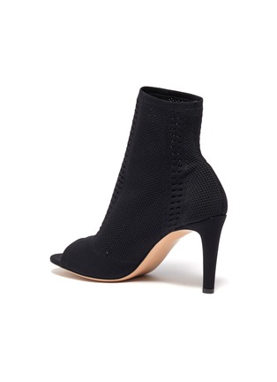 - GIANVITO ROSSI - Vires' open toe knit ankle boots