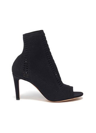 Main View - Click To Enlarge - GIANVITO ROSSI - Vires' open toe knit ankle boots