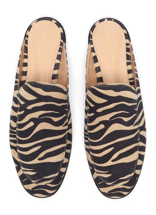 Detail View - Click To Enlarge - GIANVITO ROSSI - Palau' zebra print flat loafer slides