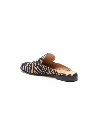 - GIANVITO ROSSI - Palau' zebra print flat loafer slides