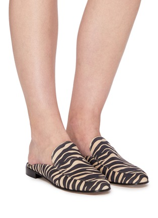Figure View - Click To Enlarge - GIANVITO ROSSI - Palau' zebra print flat loafer slides