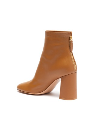 - GIANVITO ROSSI - Hyder' zip leather heeled ankle boots
