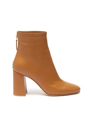 Main View - Click To Enlarge - GIANVITO ROSSI - Hyder' zip leather heeled ankle boots