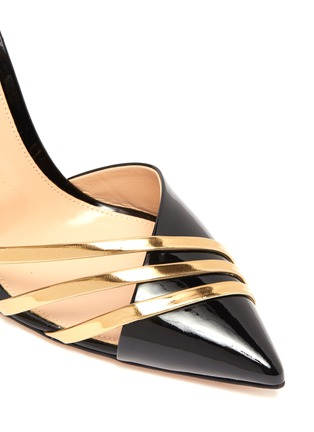 Detail View - Click To Enlarge - GIANVITO ROSSI - Avenue' point toe d'orsay strappy pumps