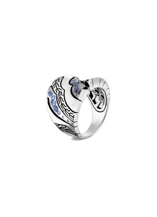 Main View - Click To Enlarge - JOHN HARDY - 'Lahar' blue sapphire silver saddle ring