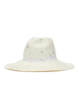 Main View - Click To Enlarge - SENSI STUDIO - Constellations toquilla straw panama hat