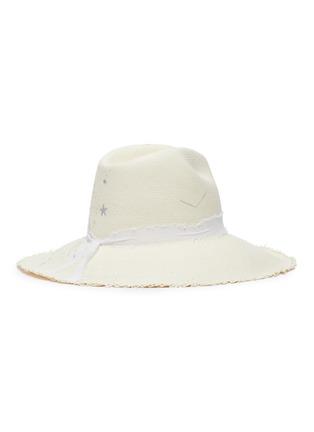 Figure View - Click To Enlarge - SENSI STUDIO - Constellations toquilla straw panama hat