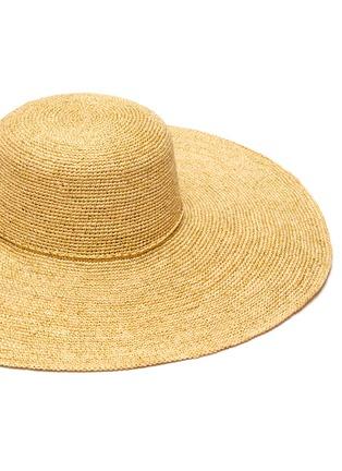 Detail View - Click To Enlarge - SENSI STUDIO - Lady Ibiza toquilla straw hat
