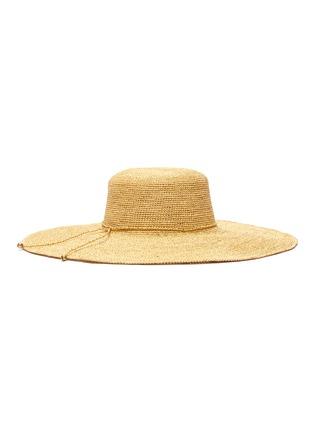 Figure View - Click To Enlarge - SENSI STUDIO - Lady Ibiza toquilla straw hat
