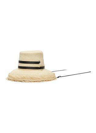 Main View - Click To Enlarge - SENSI STUDIO - El Campesino fray edge toquilla straw panama hat
