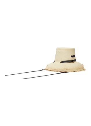 Figure View - Click To Enlarge - SENSI STUDIO - El Campesino fray edge toquilla straw panama hat