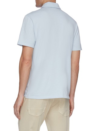 Back View - Click To Enlarge - VINCE - Garment dyed cotton polo shirt