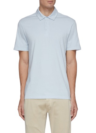 Main View - Click To Enlarge - VINCE - Garment dyed cotton polo shirt