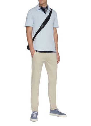 Figure View - Click To Enlarge - VINCE - Garment dyed cotton polo shirt