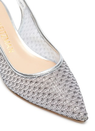 Detail View - Click To Enlarge - STUART WEITZMAN - Vea' mesh slingback heeled sandals