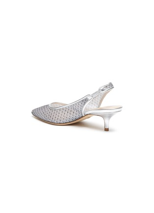 - STUART WEITZMAN - Vea' mesh slingback heeled sandals