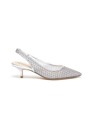 Main View - Click To Enlarge - STUART WEITZMAN - Vea' mesh slingback heeled sandals