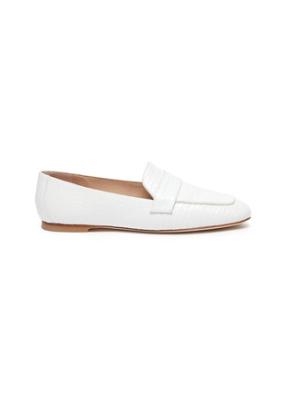 Main View - Click To Enlarge - STUART WEITZMAN - Payson' croc-embossed leather loafers
