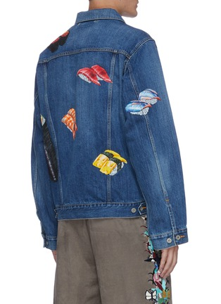 Back View - Click To Enlarge - DOUBLET - Sushi hand painted denim jacket