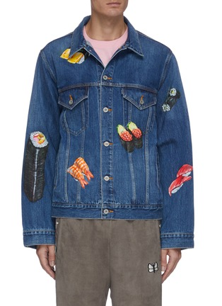 Main View - Click To Enlarge - DOUBLET - Sushi hand painted denim jacket